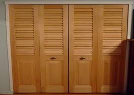 Wooden Closet Door Image Folding Closet Doors With Wood Design Ideas Decors How