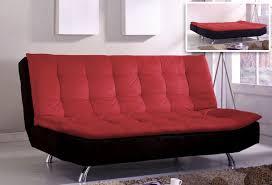 Kebo Futon Sofa Bed Furniture Red Black Themed Kebo Futon Sofa Bed With Metal Legs