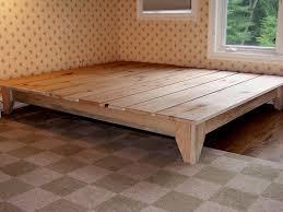 wooden platform bed frame build frames wood regarding king ideas