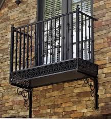 black faux french balcony outdoor decorative french balcony