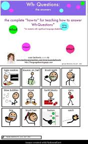 wh question worksheets for speech therapy question able material