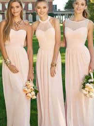 bridesmaid dresses uk a line princess sleeveless floor length ruched chiffon bridesmaid