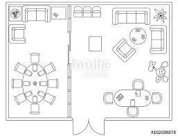 Furniture For Floor Plans Architectural Set Of Furniture Design Elements For Floor Plan