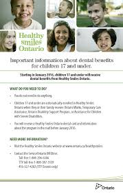 changes to dental benefits for children and youth on social