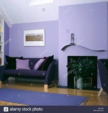 Wohnzimmer Einrichten Mit Schwarzem Sofa Interiors Sittingroom Sofa Fireplace Stockfotos U0026 Interiors