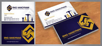 Commercial Business Card Printer Logo Business Card And Branding Of Rng Handyman Services You