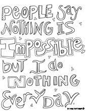 fantastic coloring pages featuring quotes doodle art