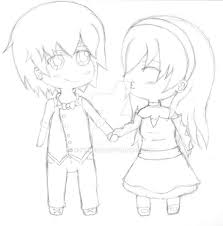 anime chibi chibi couple by rocklee12 on deviantart