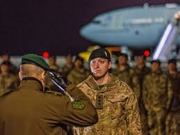 quotes for soldiers during christmas first of 800 uk troops arrive in estonia to face off against putin