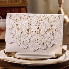 Invitation Cards Uk Wishmade Wedding Invitations Cards Kits 50 Sets White Horizontal