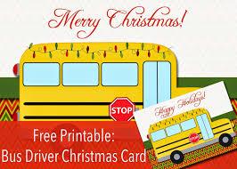 printable christmas cards for mom free printable bus driver christmas or happy holidays card bus