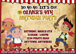 jake neverland pirates party games invitations