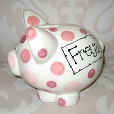 personalised piggy bank baby children