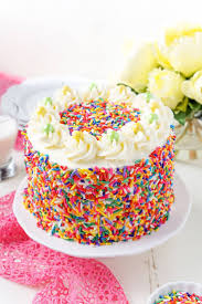 funfetti birthday cake recipe chocolate whipped cream