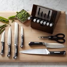 calphalon kitchen knives calphalon precision self sharpening 15 cutlery set with
