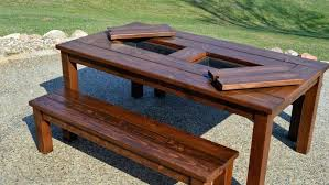 best wooden picnic tables cool picnic table plans 12 most creative