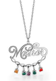 mothers day birthstone necklace really great s day gift ideas
