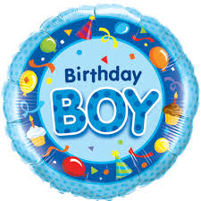 birthday boy 18 birthday boy blue foil balloon
