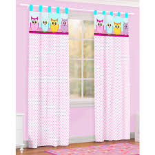 Owl Curtains For Nursery Owl Microfiber Curtain Drape Set Of 2 Walmart