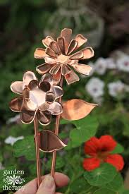 these copper garden flowers will never stop blooming