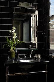 Best  Black Tile Bathrooms Ideas On Pinterest White Tile - Black bathroom design ideas