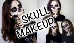 Halloween Skeleton Makeup Faces by Skull Makeup Tutorial Youtube