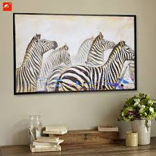 Leopard Print Home Decor High Quality Wildlife Zebra Canvas Painting On Printings Home