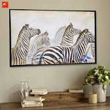 wildlife home decor high quality wildlife zebra canvas oil painting on printings home