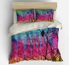 Elephant Bedding Twin Boho Chic Bedding Duvet Cover Set Twin Queen King Tie Dye