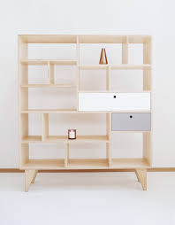 apex our scandinavian plywood bookcase bureau with drawers