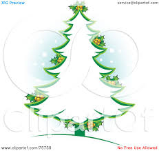 Christmas Tree Images Clipart Royalty Free Rf Clipart Illustration Of A Green Christmas Tree