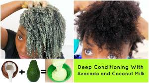 deep conditioning natural hair 4c avocado and coconut milk diy