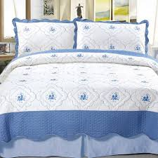 somerset home embroidered quilt bedding set walmart