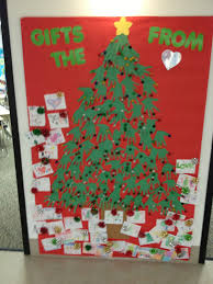 christmas decorations on bulletin board awesome classroom