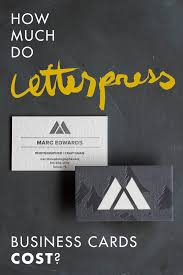 how much do letterpress business cards cost a press