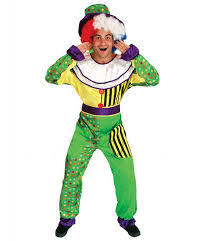 free shipping the funny green clown costume christmas