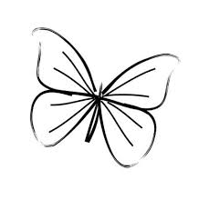 20 best small butterfly outline drawing images on
