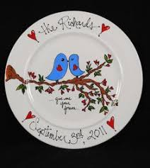 personalized wedding plate custom name personalized painted ceramic wedding plate or