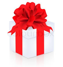 big present bow gift with big bow white background stock photo colourbox
