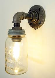 Mason Jar Pendant Light Fixture Vintage Your Funky Junk A