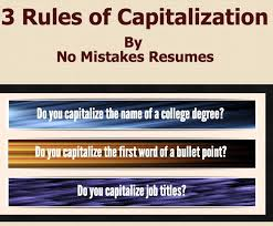 Resume College Degree 3 Rules For Capitalization On Resumes Giacomo Giammatteo