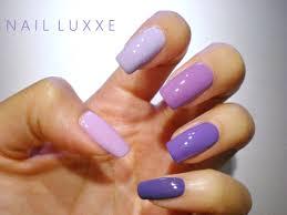 notd u2013 purple ombre nail luxxe