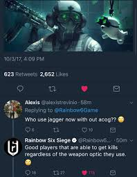 roast by r6 u0027s twitter probably justin lol rainbow6