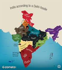 India States Map India According To A Delhi Foodie Indian Tastiness Pinterest