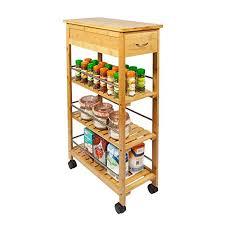 kitchen trolleys and islands woodluv slimline bamboo kitchen islands storage trolley cart