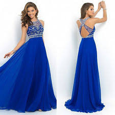navy blue formal gowns ebay