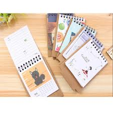 Desk Calendar With Stand Aliexpress Com Buy Cute Cartoon Animal Image Desk Desktop