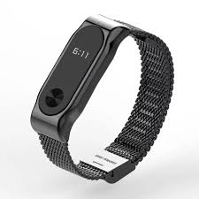 black strap bracelet images Mijobs metal strap for xiaomi mi band 2 straps screwless stainless jpg