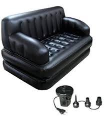 buy bestway 5 in 1 air sofa lounge bed black online at low