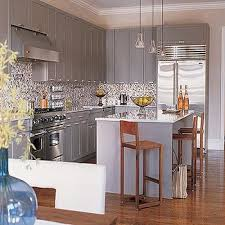 Gray Kitchen Cabinets Wall Color Gray Cabinets Design Ideas